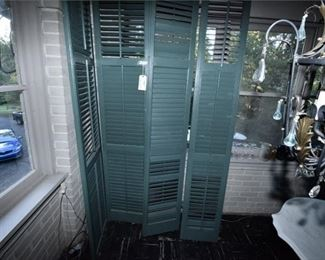 91. Four Forest Green Shutters
