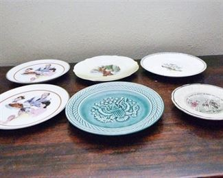 97. Grouping of Collectible Dishes Including Norman Rockwell