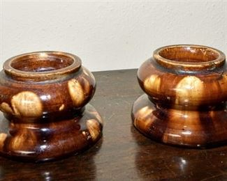 101. Pair of Wooden Candle Holders