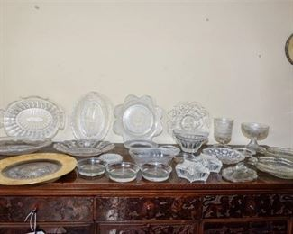102. Grouping of Cut and Pressed Glass Dishes