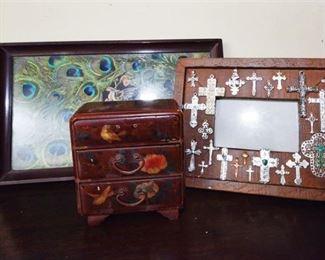 103. Three Decorative Tabletop Items