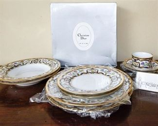104. Collection of Christian Dior Renaissance Fine China