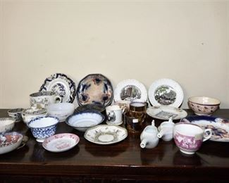 109. Grouping of Porcelain Dishes with Christian Theme