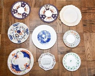 110. Grouping of Decorative China Plates