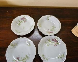 113. Lot of Four 4 Antique Hand Painted Small Serving Plates AUSTRIA