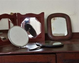116. Small Collection Vanity Shaving Mirrors wHand Held
