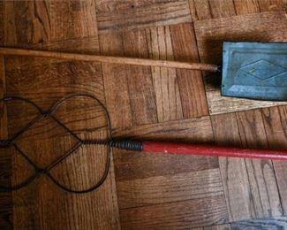 114. Vintage Nut Roaster Rug Beater Household Items