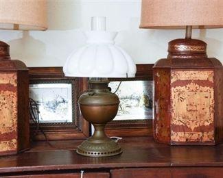 122. BH Brass Oil Lamp