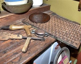 126. Antique Tools and Wood Carving