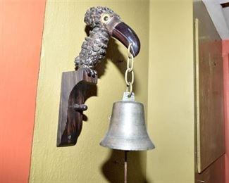 145. Vintage Toucan Bell Hanger