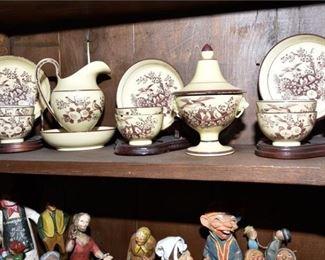 150. Set of Decorated Porcelain Tableware