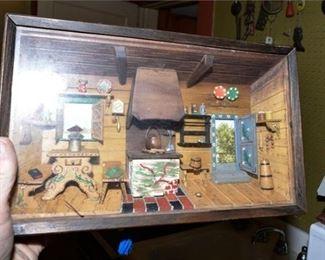 154. Miniature Room in Shadowbox