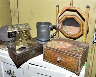 161. Varied Group Including Mirrored Jewelry Box