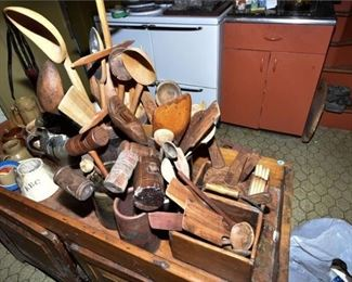 162. Collection of Vintage Wooden Utensils