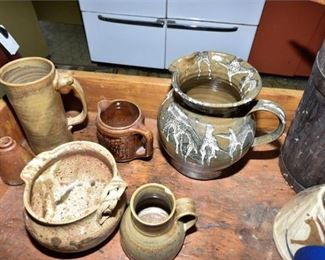 163. Grouping of Handmade Pottery Vessels