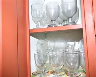 168. Group of GobletStyle Glasses