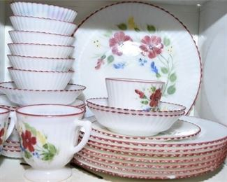 171. Set of Hand Painted Dishware