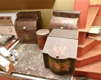 175. Grouping of Antique Tin Containers