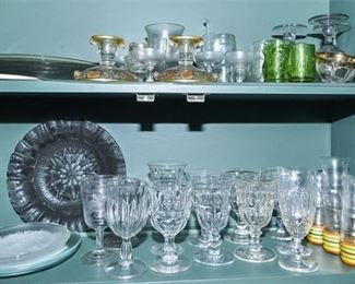 185. Assorted Glassware Items