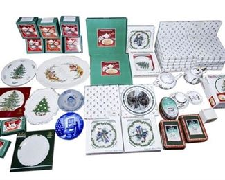 187. Christmas Dishware Collection Including Spode