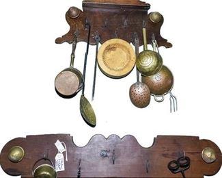 189. Mixed Collection Kitchen Utensils Wall Hanger