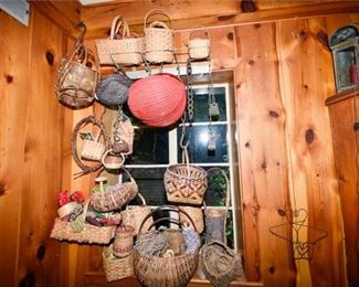 193. Large Assortment Contemporary Vintage Country Baskets