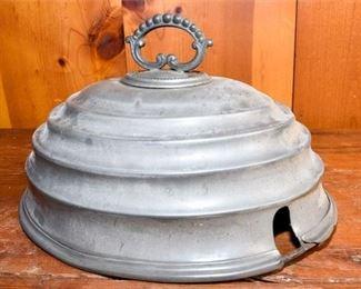198. Antique Tin Cake Plate