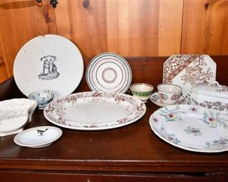 209. Mixed Lot Vintage Ceramic Dishes Serving Pieces