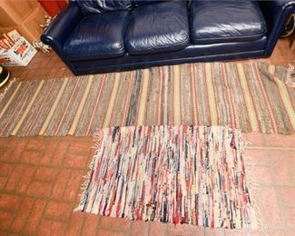219. Two 2 Contemporary Rag Tie Area Rugs