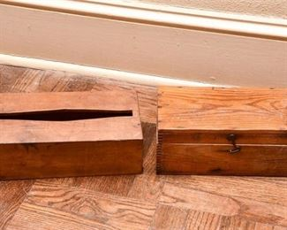 253. Two Vintage Wood Boxes
