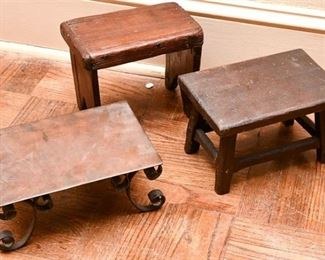 255. Three Footstools