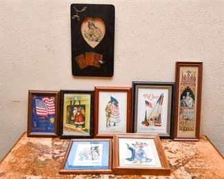 258. Grouping of Vintage Decor