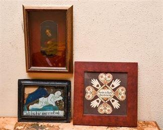 259. Three Small Framed Art Pieces