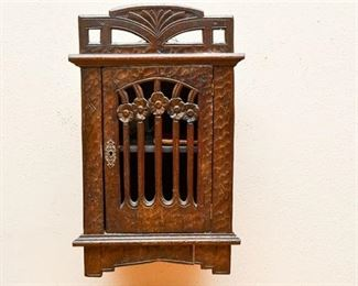 261. Antique Carved Wall Mounted Box
