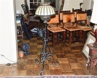 271. Vintage Wrought Iron Lamp