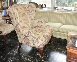 272. Contemporary FAIRFIELD Chippendale Carved Mahogany Legs Armchair