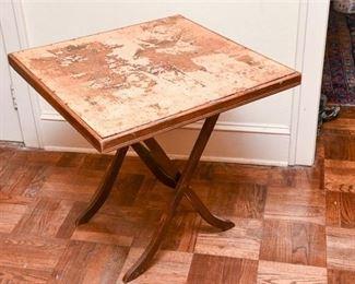 279. Vintage Oak Folding Legs Game Table