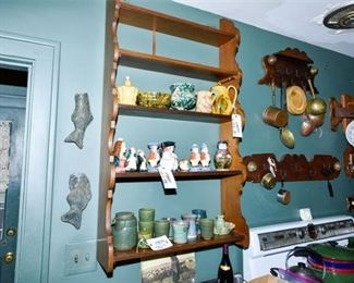 282. Primitive Country Wood Kitchen Wall Shelf