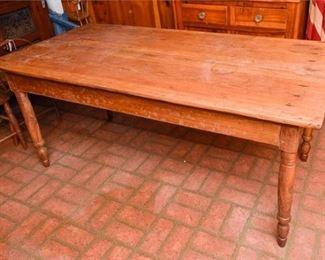 284. Fine Vintage Pine Country Kitchen Farm Table