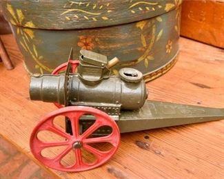 294. Vintage Cast Iron Big Bang Toy Cannon