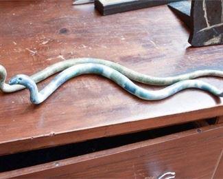 298. Pair Vintage Ceramic Snake Sculptures