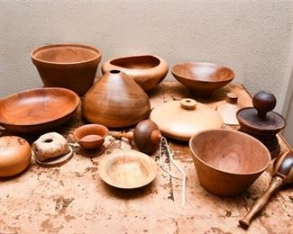 302. Collection Hand Crafted Artisan Wood Objects Collectibles