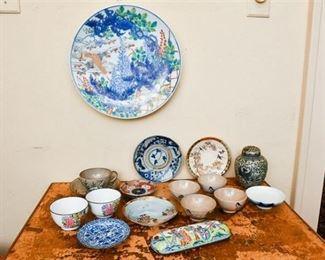 307. Mixed Lot ChineseAsian Decorative Ceramic Porcelain Collectibles
