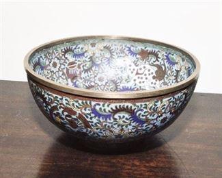 310. Vintage Chinese Cloisonne Enameled Bowl