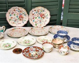 311. Nice Mixed Lot Vintage English Export Asian Dishes Plates ROYAL DALTON