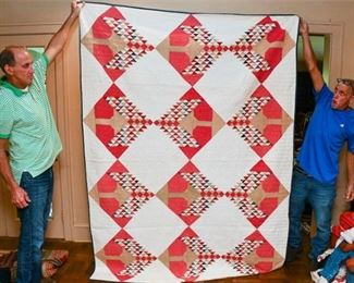 326. Modern Hand Made Geometric Pattern QuiltThrow Blanket