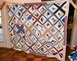 333. Patchwork Antique Hand Stitched Quilt