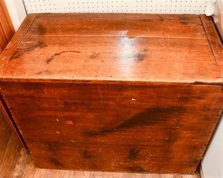 334. Large Antique Pine Wood Bin or Storage Chest