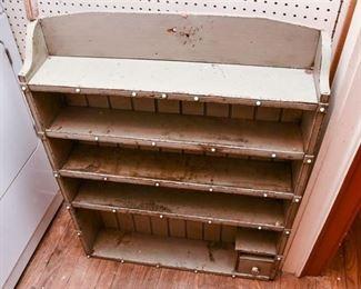 335. Older Wooden Shelving Unit