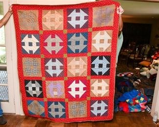 338. Vintage Hand Made Patch Work QuiltBlanket